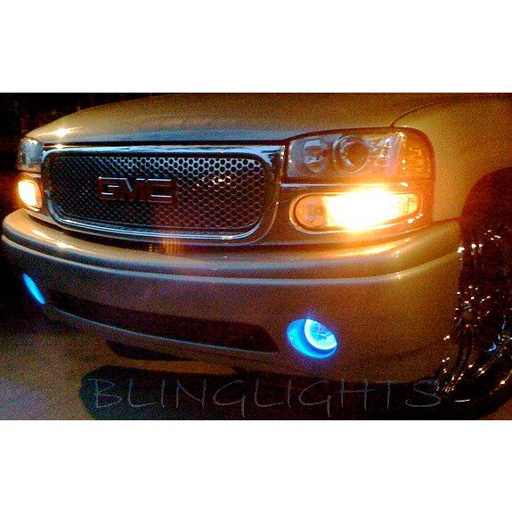 2001-2006 GMC Yukon Denali White Halo Fog Lamps Driving Lights