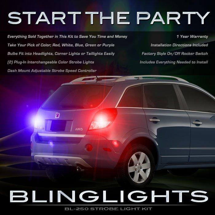 Holden Captiva MaXX Strobe Lights Headlamps Headlights Taillamps Taillights Head Tail Lamps Strobes