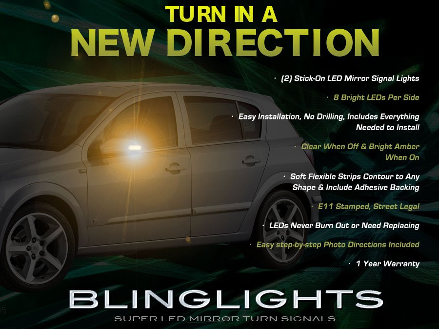 Holden Astra LED Side View Mirror Turnsignals Lights Turn Signals Lamps LEDs Mirrors Signalers