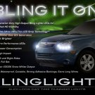Saturn Vue LED DRL Light Strips Headlamps Headlights Head Lamps Day Time Running Strip Lights
