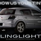 Saturn Astra Tinted Tail Lamp Light Overlay Kit Smoked Film Protection