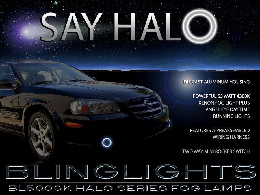 2000-2003 Nissan Maxima Halo Fog Lamp Driving Light Kit Angel Eyes