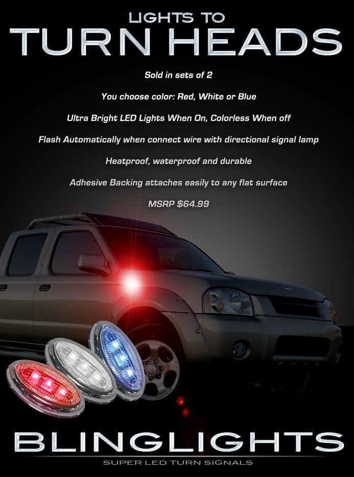 Nissan Frontier LED Side Markers Turnsignal Lights Accent Turn Signalers Lamps Signal Turnsignals