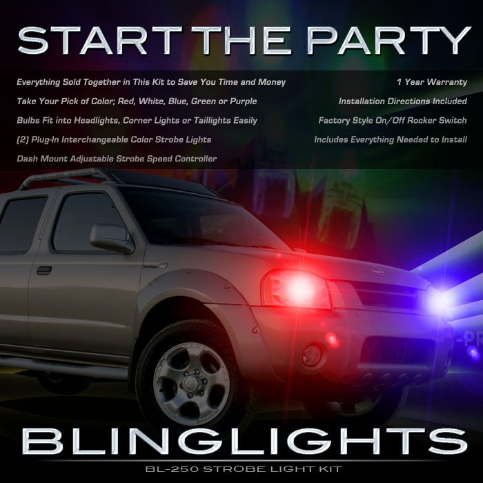 Nissan Frontier Strobe Lights for Headlamps Taillamps Headlights Taillights Head Tail Lamps Strobes