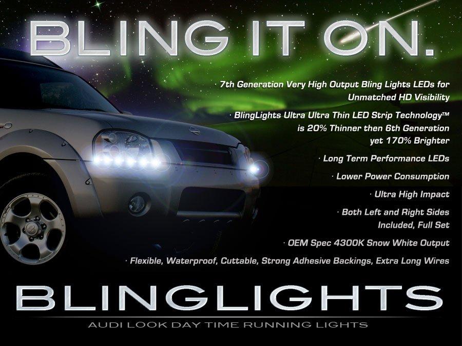 Nissan Navara D22 LED DRL Head Light Strips Day Time Running Lamps