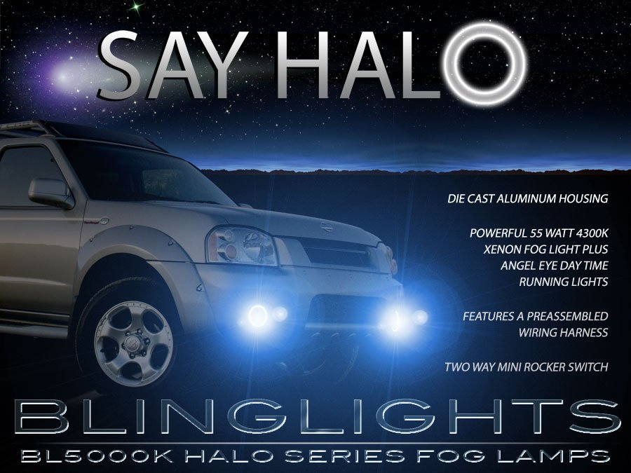 2001 2002 2003 2004 Nissan Frontier Halo Fog Lamps Lights