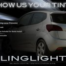 Kia Venga Tint Smoke Overlays for Taillamps Taillights Tail Lamps Lamp Lights Tinted Smoked Film