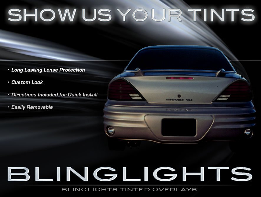 Pontiac Grand Am Tinted Smoked Taillamps Taillights Protection Overlays Film