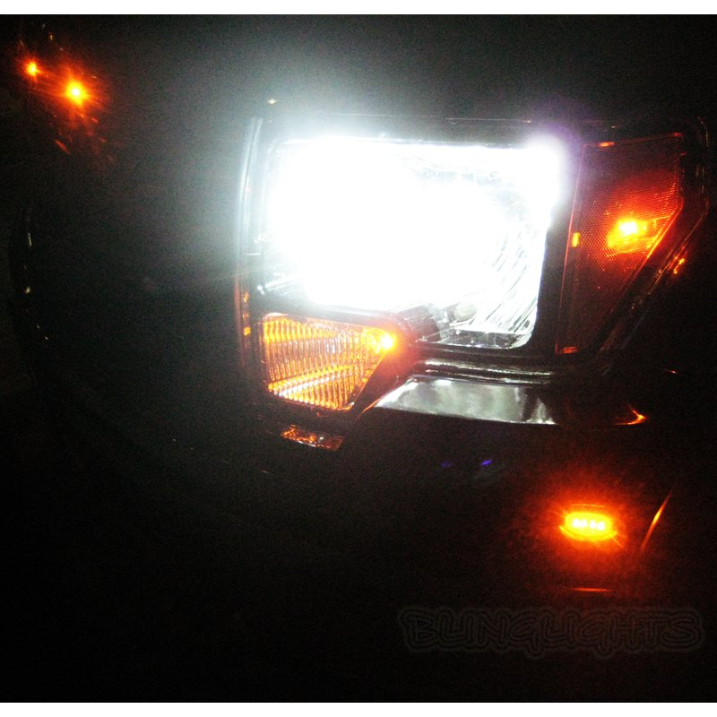 Ford F-450 F450 Super Duty Bright White Light Bulbs for Headlamps Headlights Head Lamps Lights