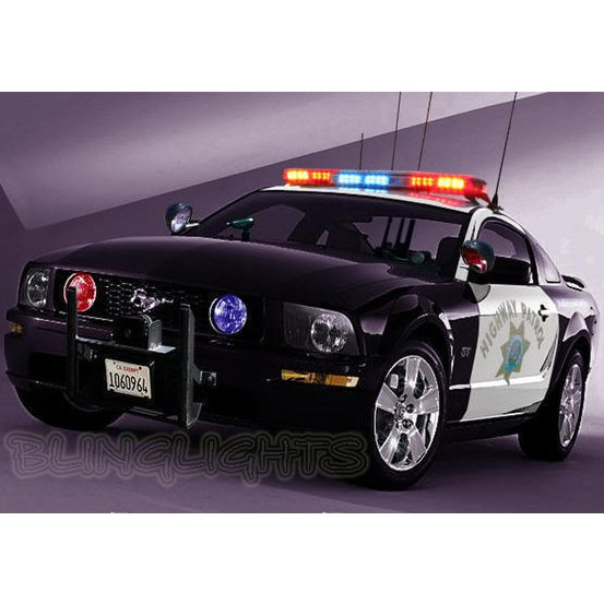 Ford Mustang Police Strobe Lights for Headlamps Headlights Head Lamps Strobes Kit