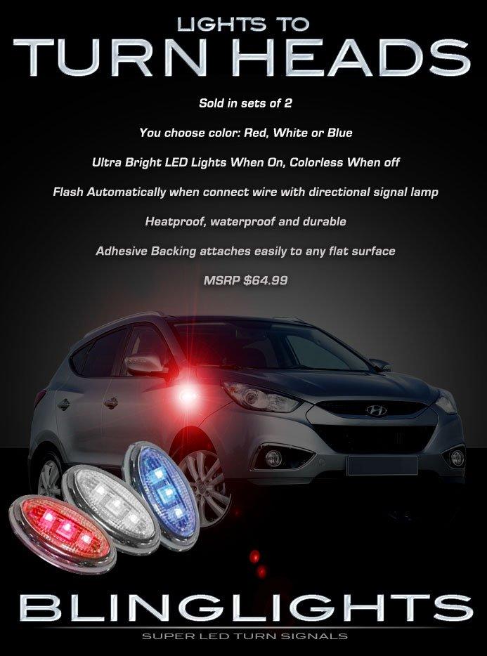Hyundai Tucson LED Side Marker Lights Turnsignals Lamps Markers Turn Signals Signalers Signal