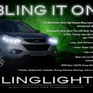 Hyundai Tucson ix35 LED DRL Head Light Strips Daytime Running Lamp Kit
