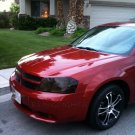 Dodge Avenger Tint Smoke Protection Overlays for Headlamps Headlights Head Lamps Lights Tinted Film