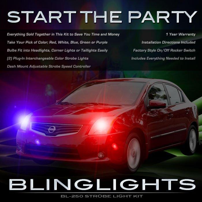 Nissan Sentra Strobe Lights Kit for Headlamps Headlights Head Lamps Police Strobes