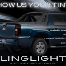 Chevrolet Chevy Avalanche Tint Film Overlays for Taillamps Taillights Tail Lamps Lights Film