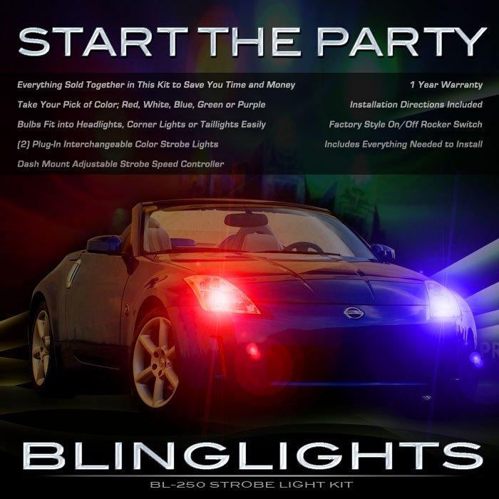 Nissan 350Z Headlamps Strobes Headlights Head Lamps Lights 2003 2004 2005 2006 2007 2008 2009