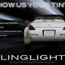 Nissan 350Z Tinted Taillight Overlays Smoked Film Covers