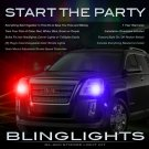 GMC Terrain Police Strobes for Headlamps Headlights Head Lamps Lights Strobe Lamp Light Kit
