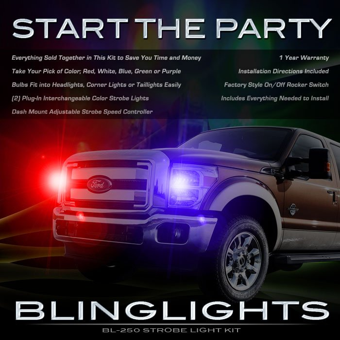 Ford F-450 Super Duty Strobes Headlamps Headlights Head Lamps Lights F450 SuperDuty Strobe Light Kit