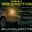 Ford F-550 Super Duty LED Mirror Turnsignals Lights Side Mirrors Turn Signals Lamps F550 Signalers
