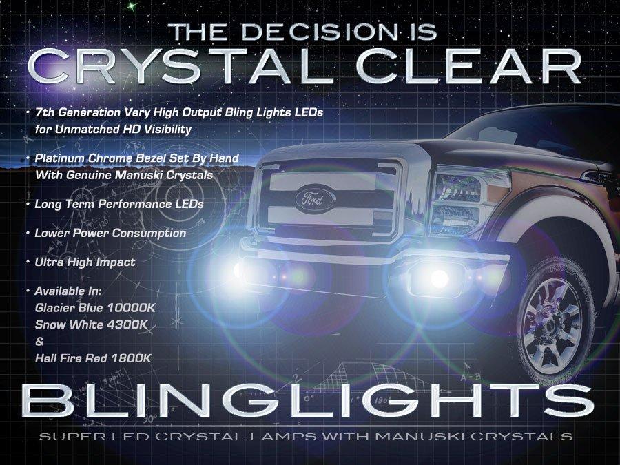 2011 2012 2013 Ford F-250 Super Duty LED Foglamps Driving Fog Lamps Lights F250 Foglights Kit