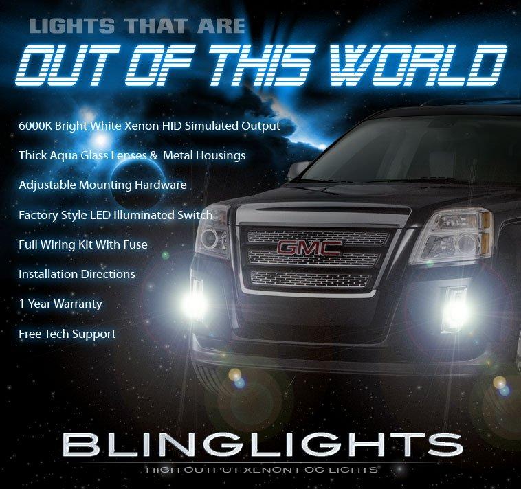 2010-2015 GMC Terrain Bumper Fog Lamps Driving Lights Kit