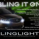 Buick Verano LED DRL Light Strips for Headlamps Headlights Head Lamps Day Time Running Strip Lights