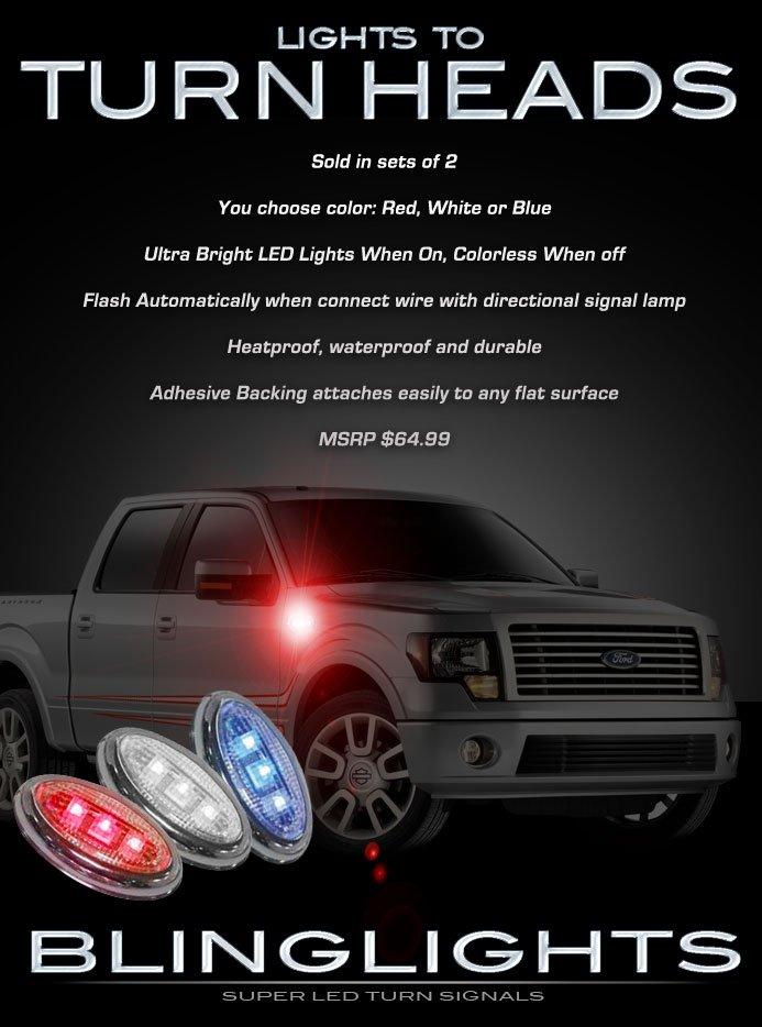 Ford F-150 LED Flush Mount Turn Signal Light Marker Set Side Accent Pair