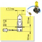 H3 Yellow 3000K Ion Gold Halogen Light Bulbs for Foglamps Foglights Driving Fog Lamps Lights