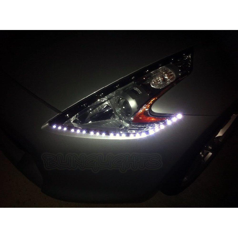 Nissan 370Z LED DRL Head Light Strips Day Time Running Lamps Kit Z