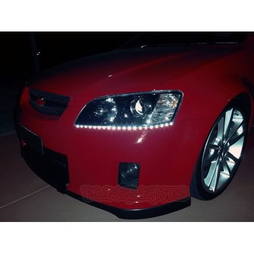 Chevrolet Chevy Omega LED DRL Strips for Headlamps Headlights Head Lamps Day Time Running Lights