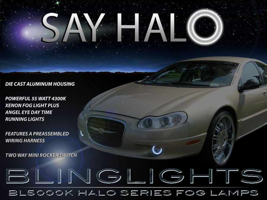 2002 2003 2004 Chrysler Concorde Halo Foglamps Angel Eye Foglights Driving Fog Lamps Lights Kit
