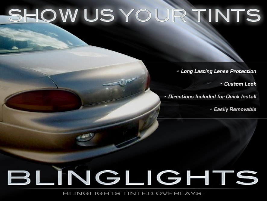 Chrysler Concorde Tinted Smoked Protection Overlays Film for Taillamps Taillights Tail Lamps Lights