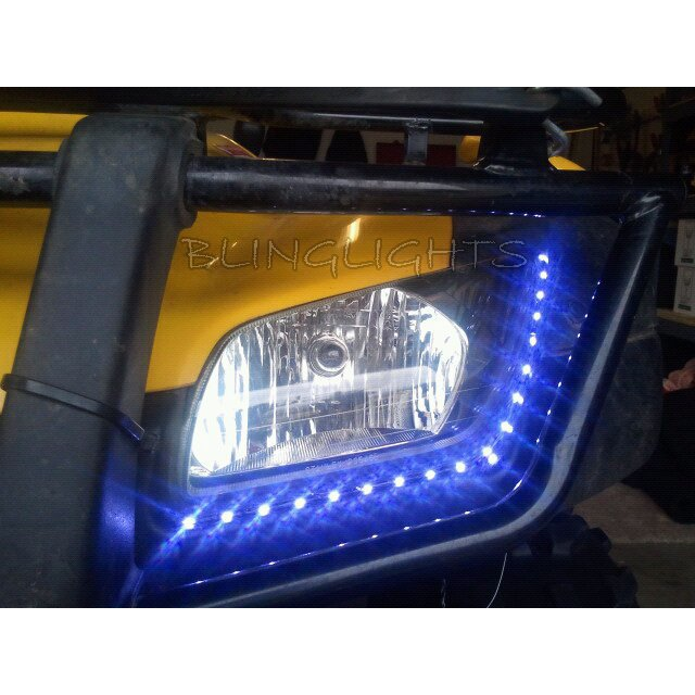 Honda FourTrax Recon LED DRL Light Strips Headlamps Headlights Head Lamps Day Time Running Lights