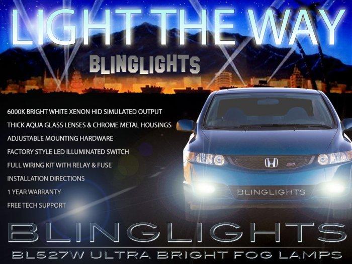 2009 2010 2011 Honda Civic Fog Lamps Driving Light Kit Coupe Sedan DX LX EX Si Hybrid GX