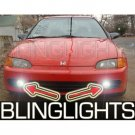 1992 1993 1994 1995 Honda Civic Coupe Sedan Hatch Xenon Fog Lamps Driving Lights Kit EG EH EJ1 EJ2