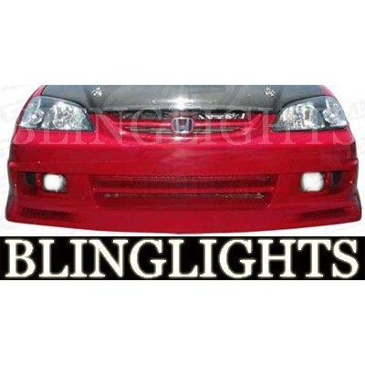 2001 2002 2003 Honda Civic Aerogear Body Kit Bumper Foglamps Foglights Fog Lamps Driving Lights