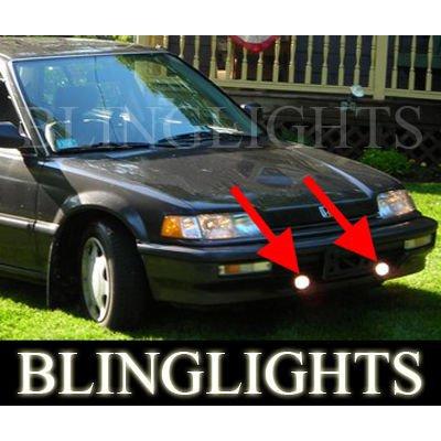 1988 1989 1990 1991 Honda Civic Sedan Hatch Wagon STD DX LX EX Xenon Fog Lamps Driving Lights Kit