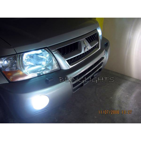 2003 2004 2005 2006 Mitsubishi Shogun Halo Foglamps Angel Eye Foglights Fog Lamps Driving Lights Kit