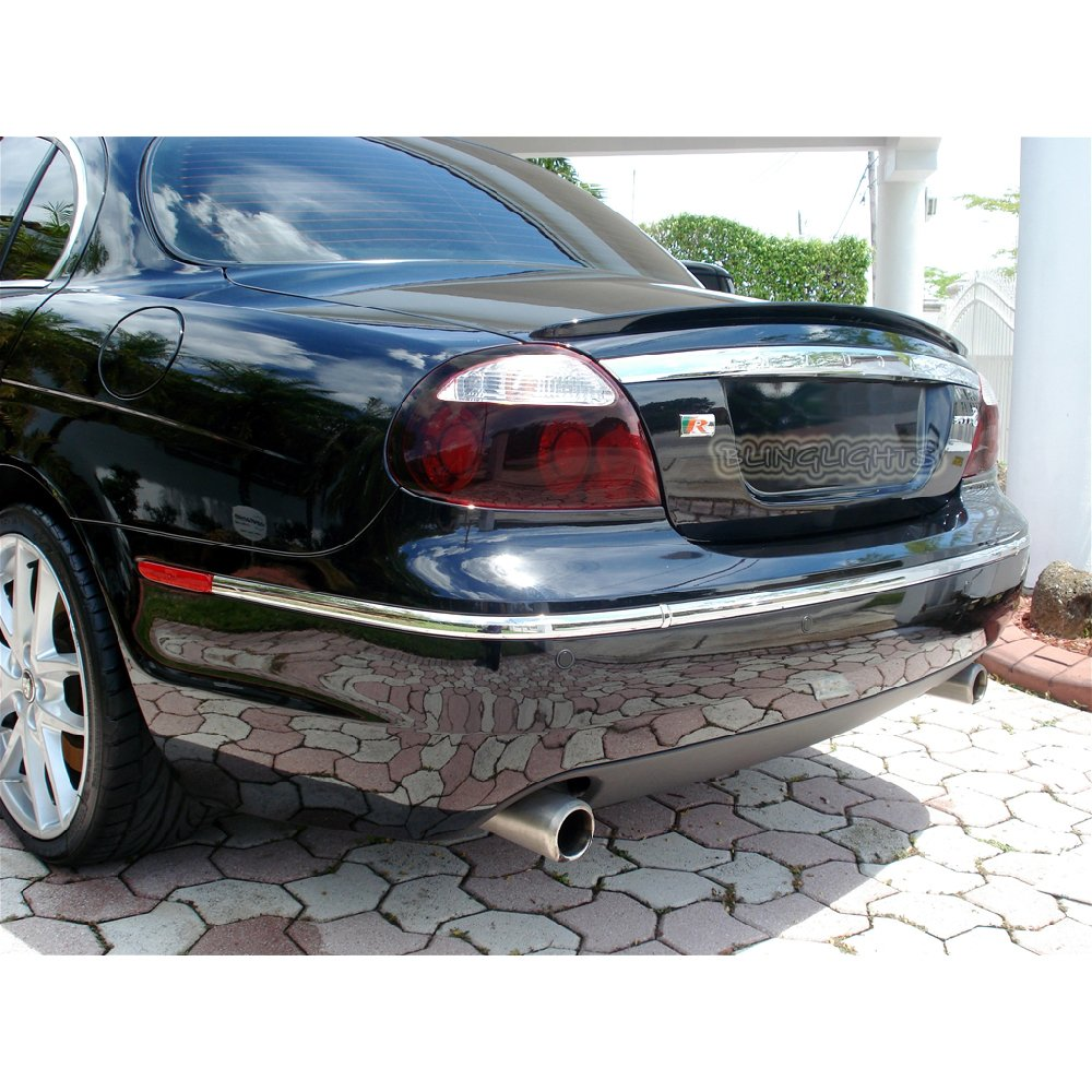 Jaguar S-Type Tinted Smoked Taillamps Taillights Tail Lamps Lights Protection Overlays Film