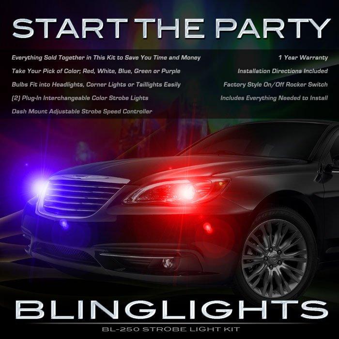 Chrysler 200 Strobe Light Kit for Head and Tail Lamps Multi-Color