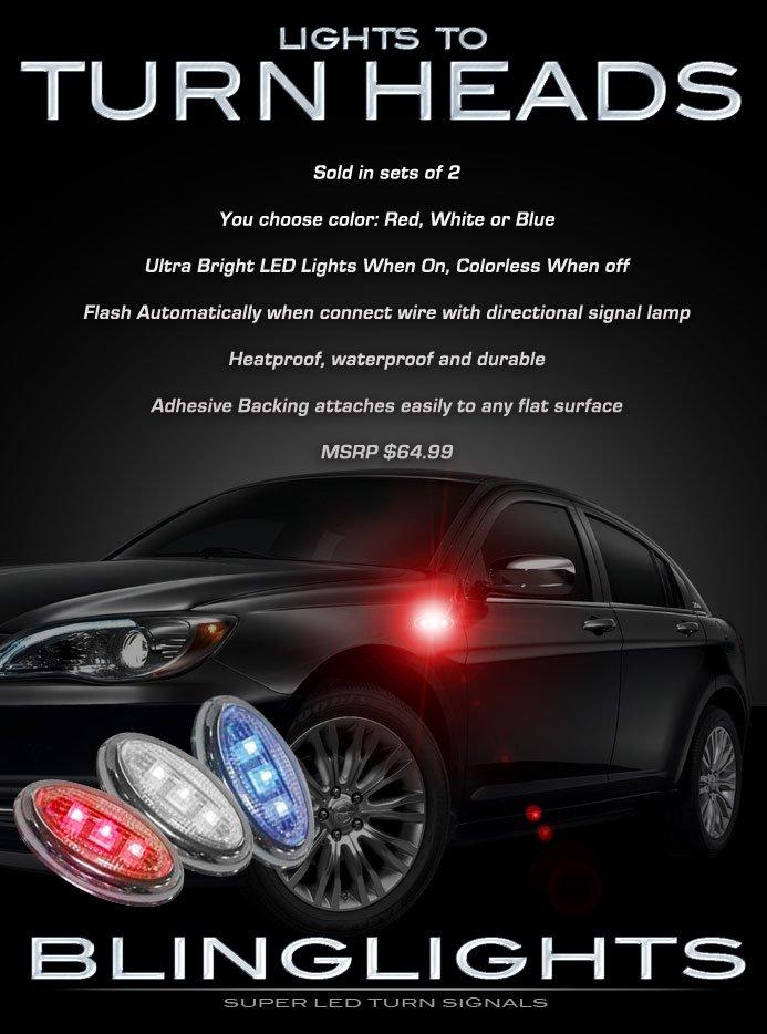 Chrysler 200 LED Flushmount Side Turnsignal Marker Lights Kit Blinker Signaler Lamps