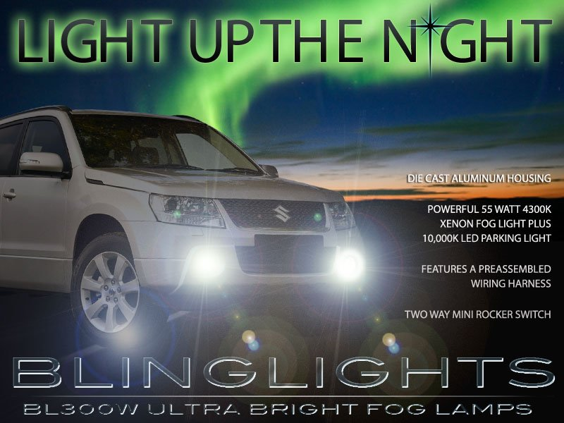 2005-2017 Suzuki Grand Vitara Fog Lamps Driving Lights Kit