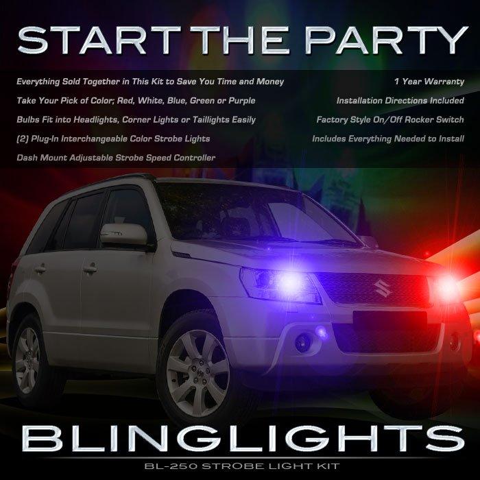 Suzuki Grand Vitara Police Strobes Lights for Headlamps Headlights Head Lamps Strobe Light Kit