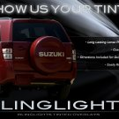 Suzuki Grand Vitara Tinted Smoked Taillamps Taillights Tail Lamps Lights Protection Overlays Film