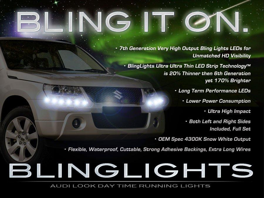 Suzuki Grand Vitara LED DRL Light Strips for Headlamps Headlights Head Lamps Day Time Running Lights