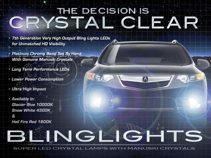 2009-2012 Honda Accord Euro LED Foglamps Drivinglights Fog Lamps Driving Lights Kit (Japanese Spec)