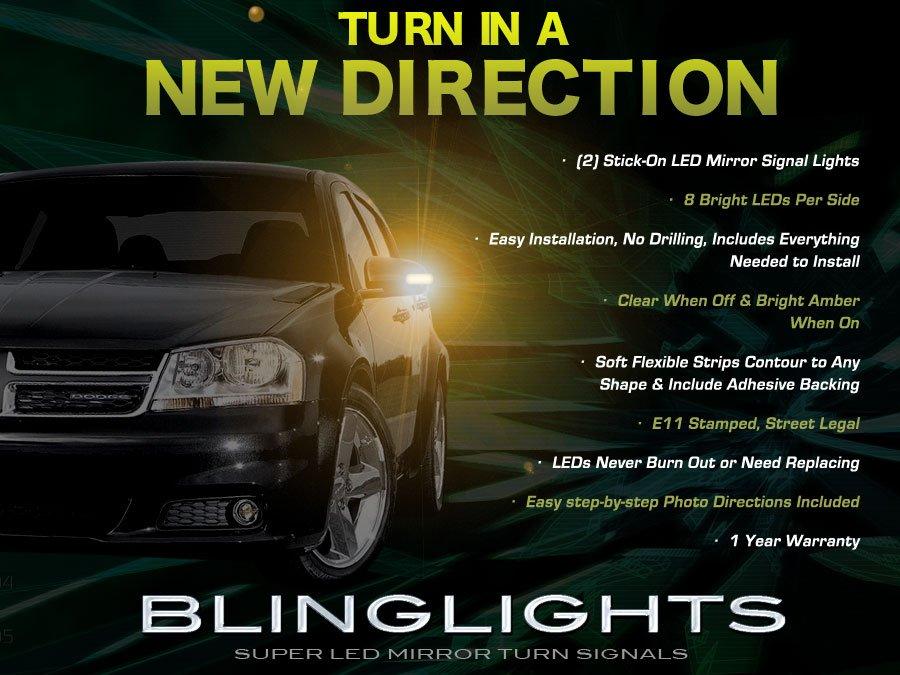 Dodge Avenger LED Mirror Lights Turn Signal Lamp Kit Set