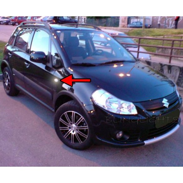 Fiat Sedici LED Side Markers Turnsignals Lights Accents Turn Signals Lamps LEDs Signalers Set