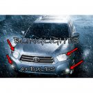 Toyota Highlander 4 Bright White Upgrade Light Bulbs for OEM Headlamps and Foglamps Fog Head Lamps